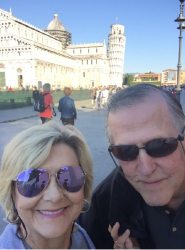 Jeannie Eatman Kaled and Norman Asbjornson enjoying Italy 2017