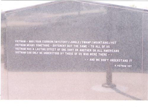 Taken from the Traveling Wall -   Click to enlarge
