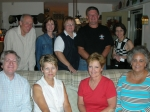 October 14, Back row - Mike Skaistis, Sandra Wright Wylie, Katie Stickle Alfred, Steve Bell, Sara Cooper Allen, Seated -