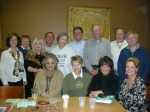October 25, Back Row - Sandra Wright Wylie, Katie Stickle Alfred, Jeannie Lunger Reed, Doug Lee, Corry Spoor Weston, Ste