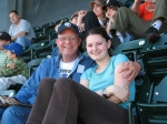 Steve Suttle and an aspiring actress, daughter Tovah Ruth, at At&T Park in San Francisco.