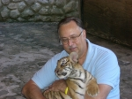 World renown lion tamer Earl Creekmore at the Puerta Vallarta Zoo December 2011